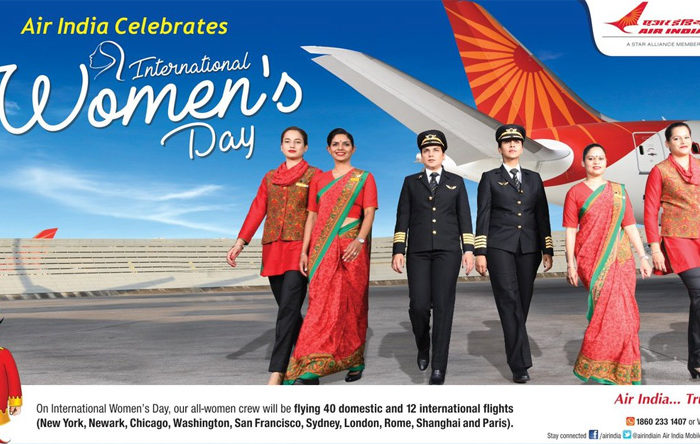 Air India to fly with all women crew on 12 international and 40 domestic flights on Women's Day