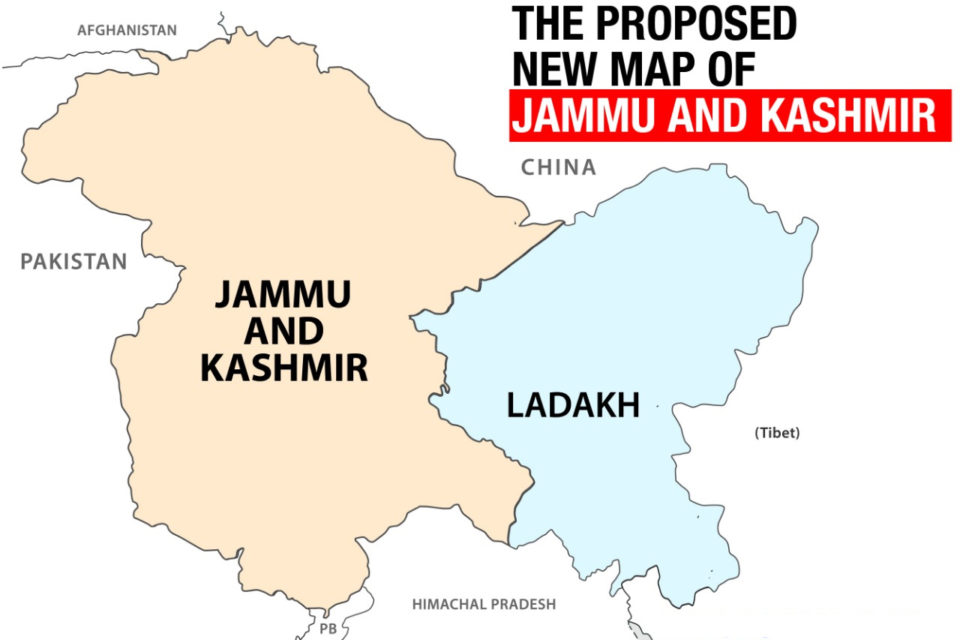 This Is What The Map Of Jammu & Kashmir Will Look Like Now That Article 370 Is Being Revoked