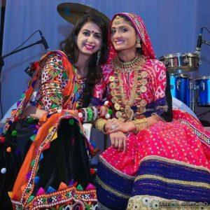 Geeta Rabari with Kinjal Dave