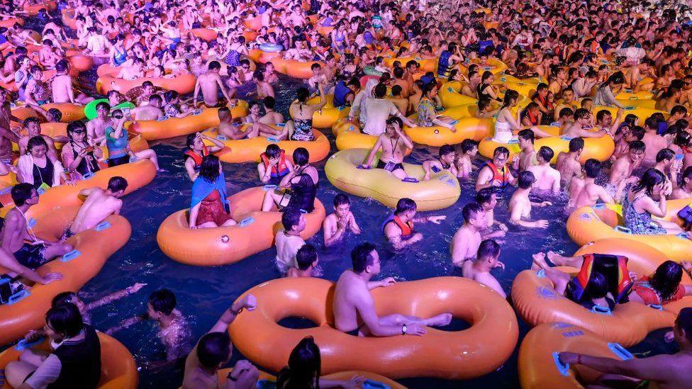 Pool party at Wuhan China post Corona - Ibandhu