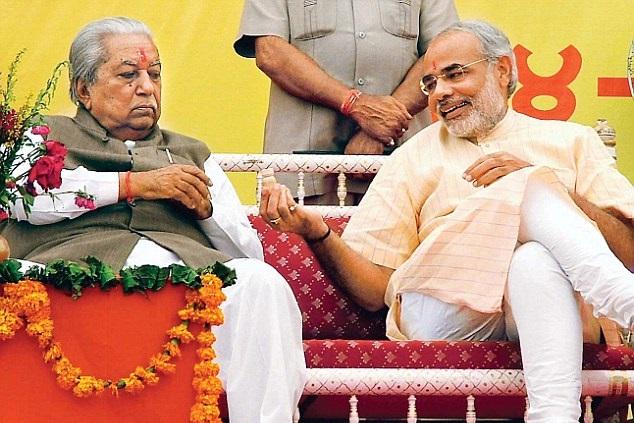 PM Narendra Modi with Kesubhai Patel - Ibandhu