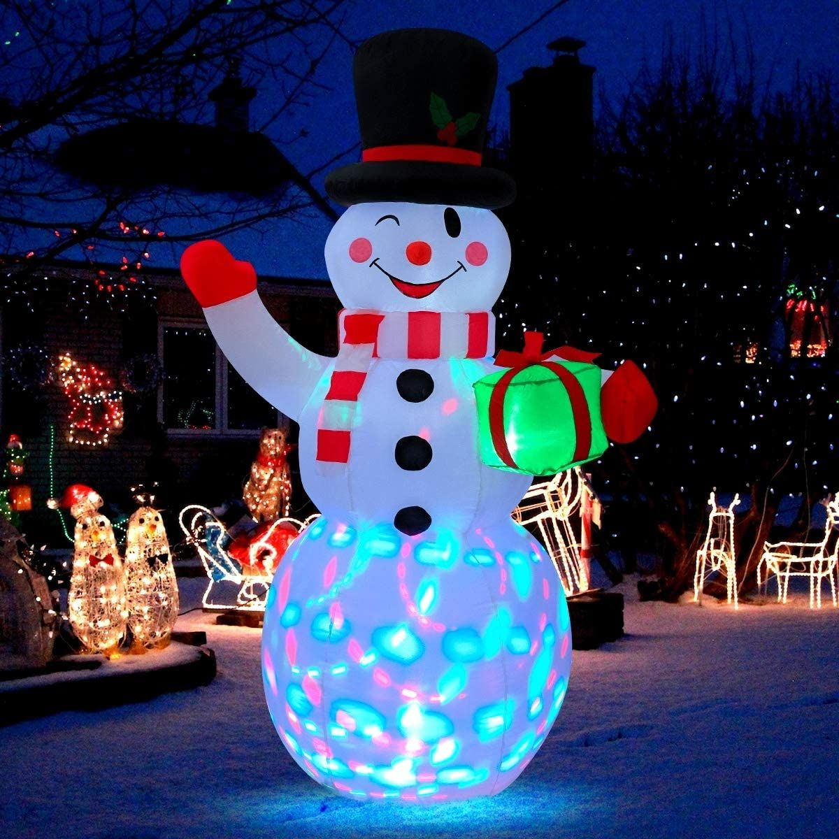 SCINTILLATING INFLATABLE SNOWMAN